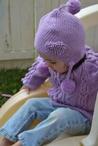 Heirloom Ring of Hearts Cable Child Sweater Pattern