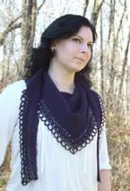 Raven's Song- Tunisian Crochet Shawl Pattern Pattern