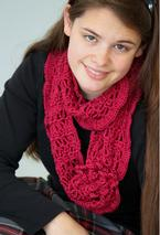 Crochet Corsage Infinity Scarf or Shoulder Wrap Pattern