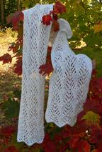Frost on the Trees Lace Scarf Pattern