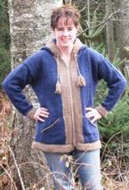 Zippered Cardigan with Elf Hood Pattern