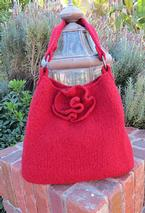 Red Rose Felted Tote Pattern