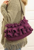 Amethyst Ruffle Felted Purse Pattern
