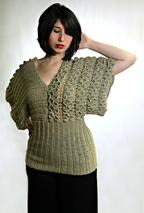 Crocodile Stitch Kimono Crochet Top Pattern