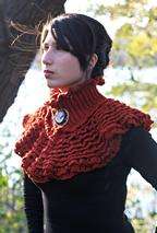 Ruffled Victorian Cowl  Pattern