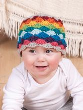 Darling Little Rainbow Crochet Hat Pattern Pattern