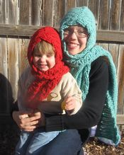Over the River Hooded Crochet Scarf Pattern