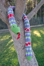 Shape Teaching Fair Isle Snake Crochet Pattern Pattern