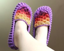 Crocodile Stitch Crochet Loafers (Adult Size) Pattern
