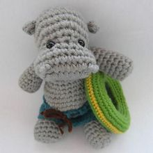 Hippo the Swimmer Crochet Pattern Pattern