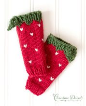 Strawberry Leg Warmers Pattern Pattern