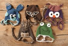 Domestic Zoo of Crochet Animals Hats Pattern Pattern