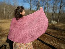 Raspberry Cream Pi Shawl Pattern Pattern