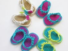 Flip Flops for Baby Girls Crochet Pattern Pattern
