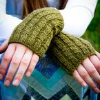 Cascades Cabled Fingerless Mitts Pattern