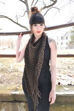 Fringed Triangle Crochet Scarf Pattern Pattern