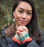 Sunset Ridge Crochet Fingerless Mitts Pattern