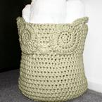 Owl Crochet Basket Pattern