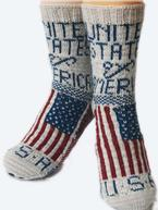 Flag Socks: USA Pattern