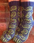 For the Love of Paisley Socks Pattern
