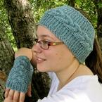 Chase the Chill Away Fingerless Mitts and Earwarmers Pattern