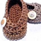 Oh Baby! Buttoned Crochet Ballet Shoes Pattern