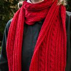Reversible Cable Scarf Pattern