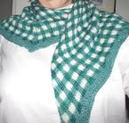Gingham Check Shawlette Pattern