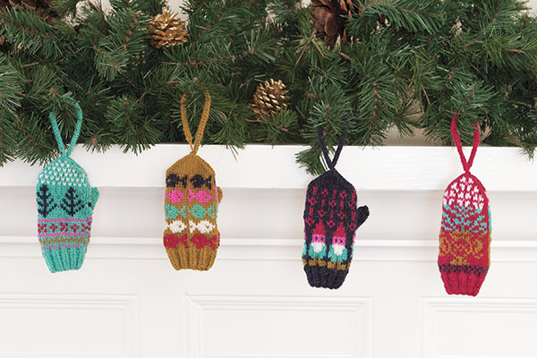 Mini-Mitts Ornaments Pattern