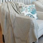 Quatrefoil Throw - Filet Crochet Pattern