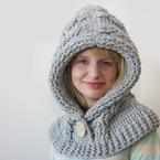 51 Degrees North - Crochet Hooded Cowl Pattern