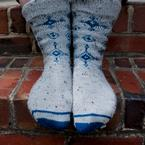 Winter Eyes Socks Pattern