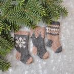 Nordic Christmas Stocking Ornament Set Pattern