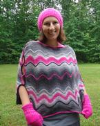Chroma Wave Poncho Pattern
