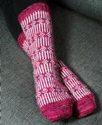 Flowers on a Fence Socks Pattern