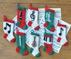 Musical Christmas Stocking Ornaments Pattern