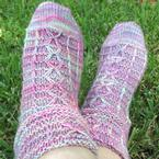 Cross-bars Home Socks Pattern