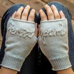 Knit and Purl Hand Mitts Pattern