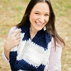 Modern Rugby Infinity Scarf Pattern