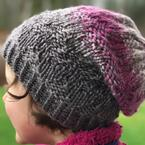 Textured Chevron Hat Pattern