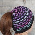 Ombre Bricks Ponytail Hat Pattern