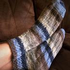 Spiral Slipper Socks Pattern