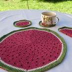 Watermelon Coasters and Dishcloth Pattern