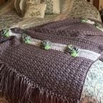 Cabbage Rose Afghan Pattern