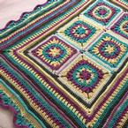 Petals and Ridges Blanket Pattern