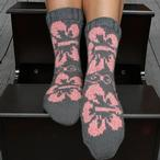 Hibiscus Socks Pattern