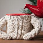 Cable Sweater for Coffee Mug IDP Pattern