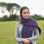 Bardsea Scarf with Optional Hood Pattern