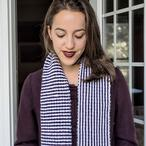 Surprise Stripes Reversible Scarf Pattern