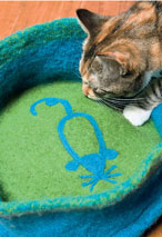 Felted Cat Bed Pattern Pattern